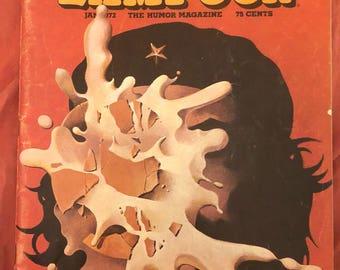 January 1972 National Lampoon Magazine humor humour vintage adult