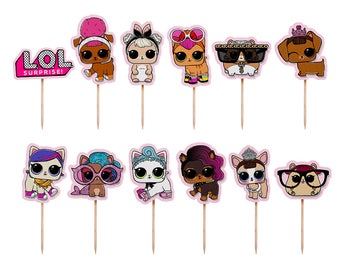 LOL Surprise Doll Cupcake Toppers, LOL Surprise Pets Cupcake Toppers, LOL Surprise Cupcake Toppers