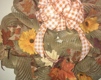 Fall Plaid Wreath