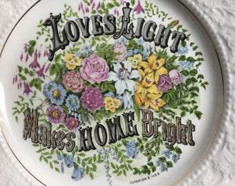 Lord Nelson Ware Plate - Loves Light Makes Home Bright