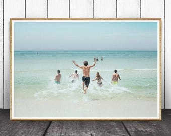 Beach Decor, Beach Wall Art, Printable Beach Art, Beach Photography, Ocean Print, Ocean Waves Print, Ocean Waves Print, Ocean, Beach