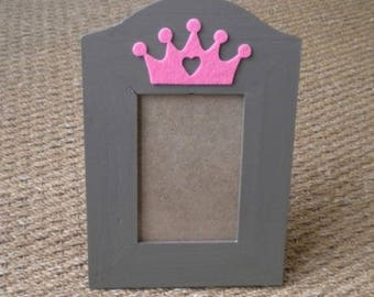"Pink ""Princess"" wooden picture frame"