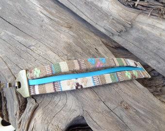 EXPRESS SHIPPING,Colorful Cotton Bracelet,Boho Bracelet,Hook Clasp Threefold Bracelet,Cuff Bracelet,Multicolor Ethnic Bracelet,Gift for Her