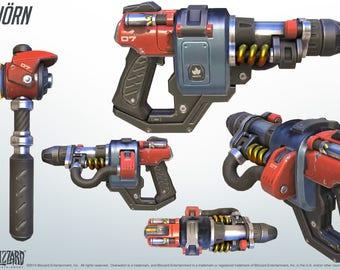 Torbjorn forge hammer and rivet gun Overwatch cosplay prop
