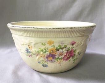 Floral Bowl // Floral Kitchen // Floral Home Decor // Vintage Kitchen Decor // Made in USA // Vintage Home Decor