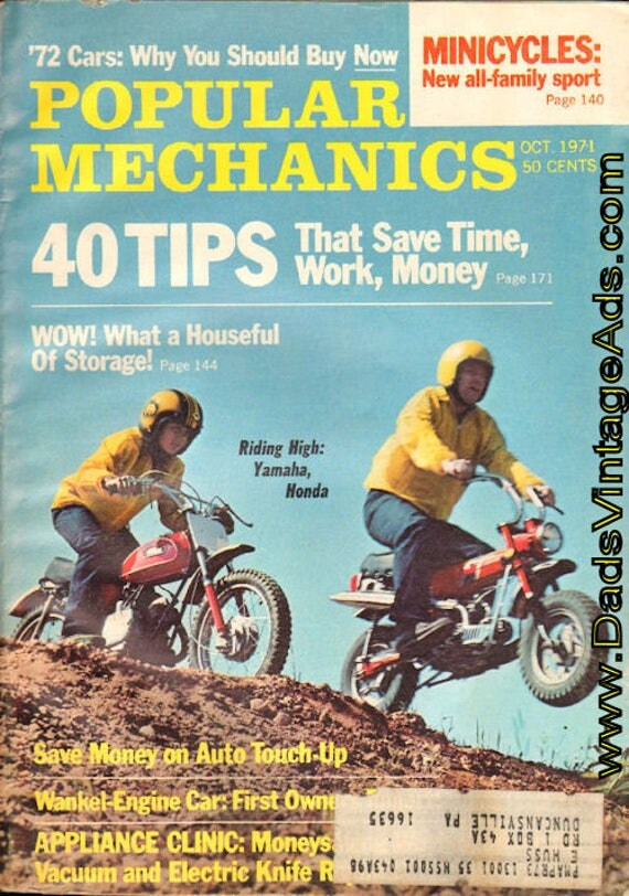 1971 October Popular Mechanics Magazine Back-Issue #mb643