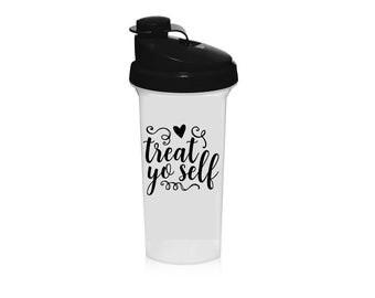 Treat Yo Self Decal (Vehicles Car Shaker Cup Blender Shakeology Bottles Yeti Mugs Wine Glass Phone Case)
