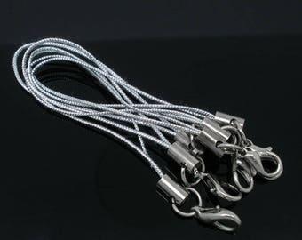Set of 10 tie straps for PORTABLE in Nylon silver
