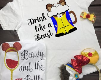 Food And Wine Shirt, Disney Prince, Beast Shirt, Drinking Shirt, Beast, Breast Beer, Epcot Food And Wine, Beast Drinking Shirt, EPCOT