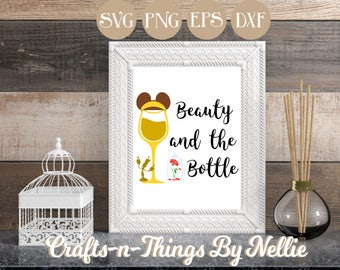Belle Disney Wine Glass SVG