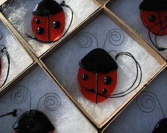 Christmas Ornament - Cherry Red Ladybug