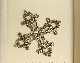 Filigree cross etsy antique gold filigree cross filigree gold cross findings filigree cross gold filigree aloadofball Image collections
