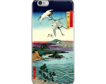Japanese bird iPhone case, beautiful Asian design, great for bird lovers, nature lovers, and Hiroshige lovers!