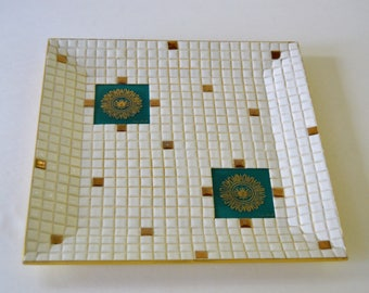 Georges Briard Ceramic Tile Mosaic Tray
