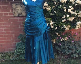 1980's Turquoise Party Dress