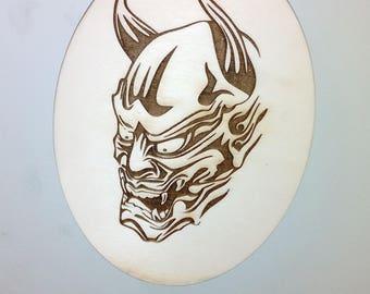 Skull - laser cut - wooden - magnet