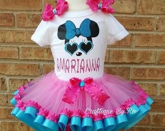 Minnie Mouse Birthday Outfit - Minnie First Birthday Outfit  -  Minnie Mouse Birthday Tutu - Minnie Birthday Tutu - Minnie Shirt