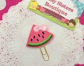 Planner clip - glitter pink watermelon