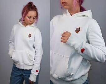 MODO HOCKEY Vintage 90's Sweden Hockey Sweatshirt Hoodie| Size XS-S