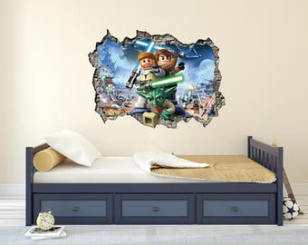 Star War Lego 3D Effect   Brake Wall Effect 3D   Wall Decal For Room Boys Part 27