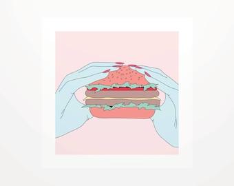 Poster Burger - Burger - graphic Illustration