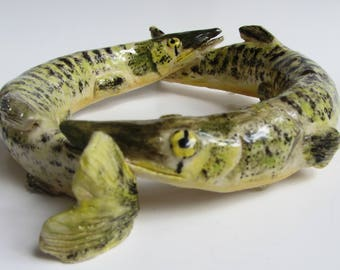 Pickerel double fish bowl
