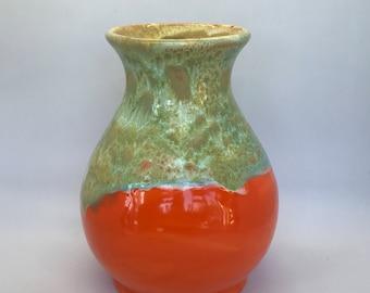 Ceramic vase, Orange vase, Ceramic Orange vase, flower vase, vase for flowers, vase ceramic, vase pottery, vase centerpiece, vase custom