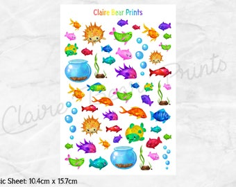 TROPICAL FISH Planner Stickers