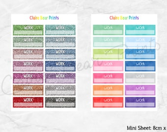 WORK Planner Stickers (2 options)