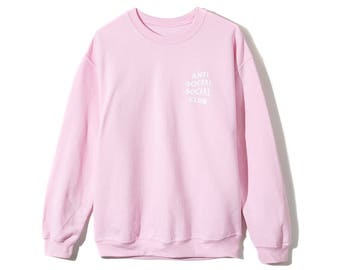 Pink Know you Better Gildan Anti Social Social Club Crewneck  / ASSC / Hypebeast