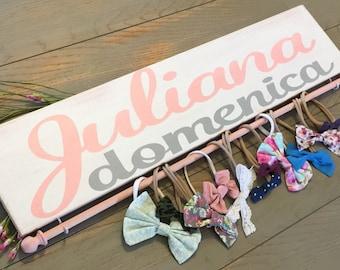 Baby Headband, Baby Girl Gift, Baby Shower Gift, Headband Organizer, Nursery Decor, Hairbow Holder, Headband Holder, Shabby Chic, Bow Holder