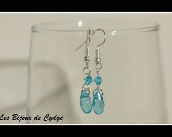 Earrings and its drop turquoise with router