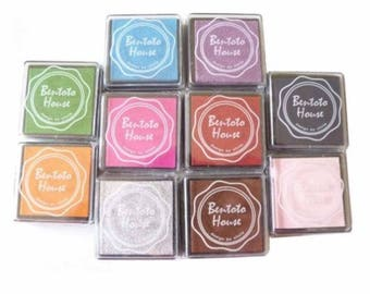 Set of 10 rubber stamp
