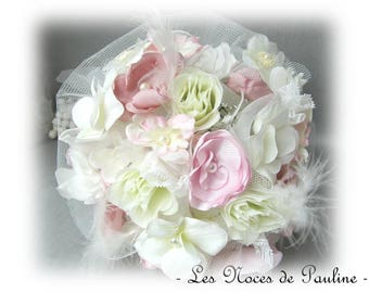 Eternal rose and ivory bridal bouquet