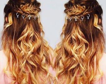 Hair Rings x 12