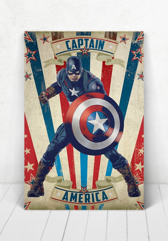 Captain America Poster - Illustration / Captain America Poster / Captain America