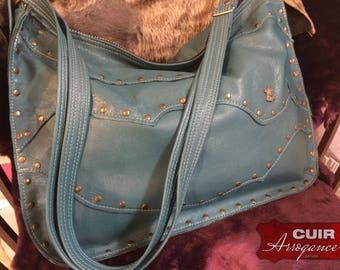 Large bag made of velvet lambskin