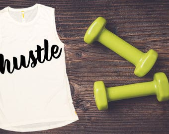 Women's Tank Top -Hustle,  Workout Clothing