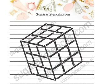 Rubik's cube PYO cookie Stencil NB900517