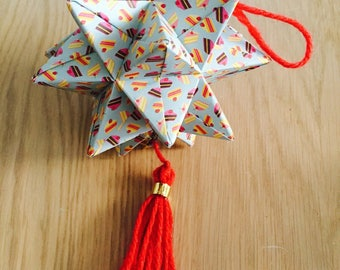 Hanging origami - pinquante star Garland