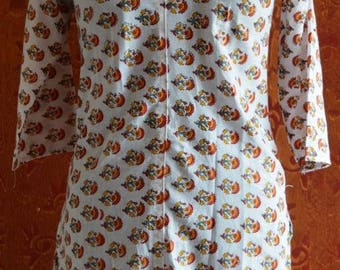 Hand Block Printed Cotton Hand Made Tunic/Kurta/Dress