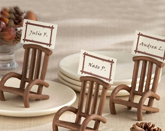 Rustic Elegance Adirondack Chair Place Card-photo Holder- Set