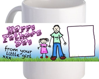 From Your Little Girl Custom Coffee Mug Lovely Gift For Your Father