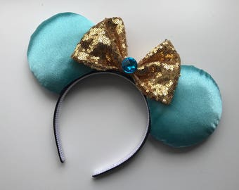 Princess Jasmine Inspired Mickey Minnie Mouse Ears Aladdin Genie Head band Headband
