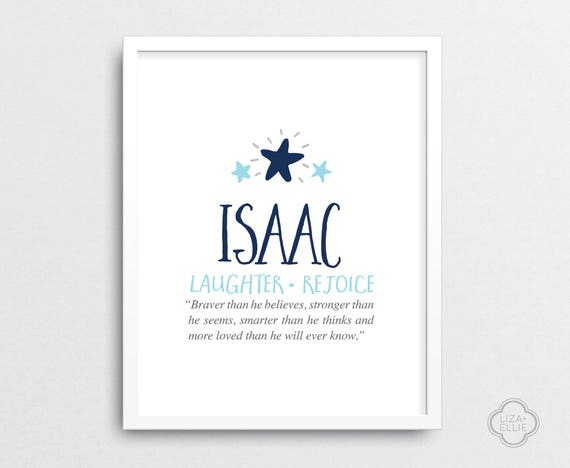 Isaac baby name meaning personalized baby gift custom isaac baby name meaning personalized baby gift custom baby name print boy name wall art printable digital files negle Gallery