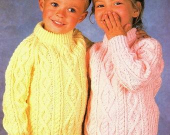 Aran Sweaters, Knitting Pattern. PDF Instant Download.