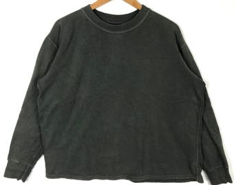 Rare !! Vintage 90s HOLLYWOOD RANCH MARKET H.R Market Plain Dark Green Crew Neck Sweatshirt 2 Size