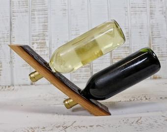Floating Double Wine Bottle Holder