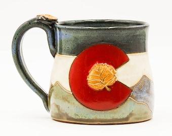 Colorado Mug | Mountain Mug | Pottery | Ceramic | Stoneware | Pottery Mug | Ceramic Mug | Stoneware Mug | Handmade Pottery | Colorado