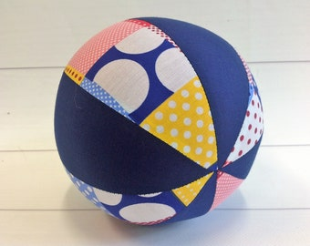Balloon Ball Baby, Balloon Cover, Balloon Ball, Ball, Kids, Patchwork, Blue, Portable Ball, Travel Toy, Travel, Eumundi Kids, Eumundi